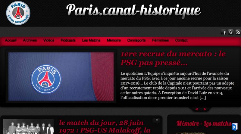 Paris canal historique