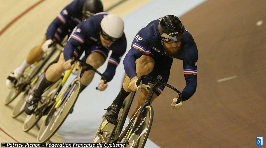 Equipe de France masculine de vitesse par équipes championne d'Europe