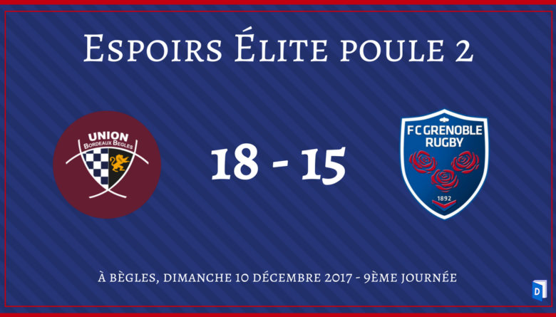 Union Bordeaux Bègles vs FC Grenoble Rugby Espoirs