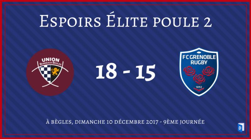 Union Bordeaux Bègles vs FC Grenoble Rugby Espoirs