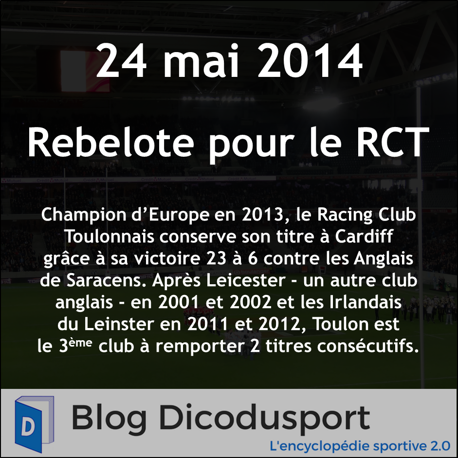 24 mai 2014 Toulon double champion d'Europe
