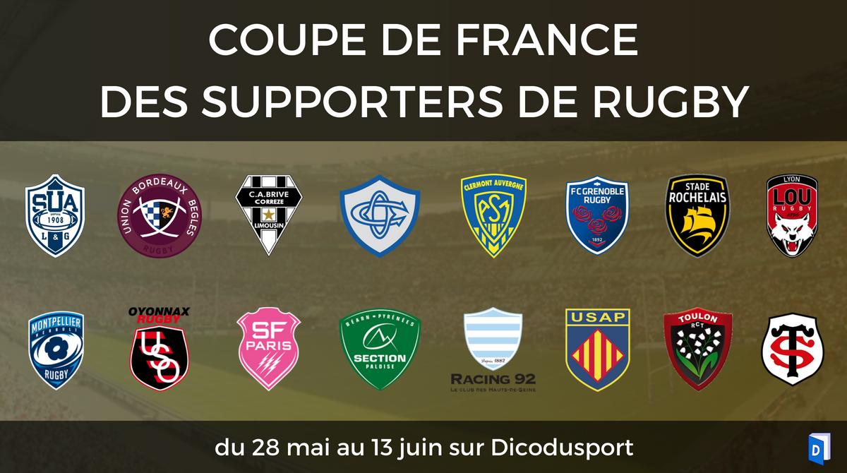 Présentation Coupe de France des supporters de rugby 2018