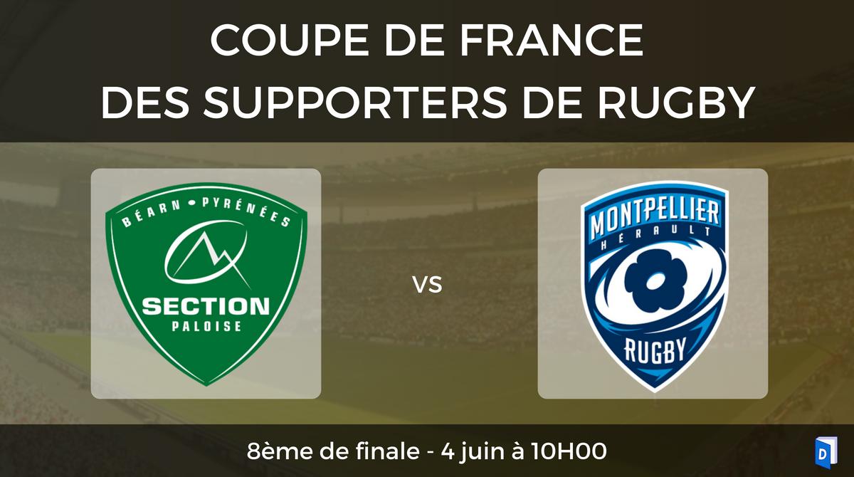8ème de finale Section Paloise - Montpellier Hérault Rugby