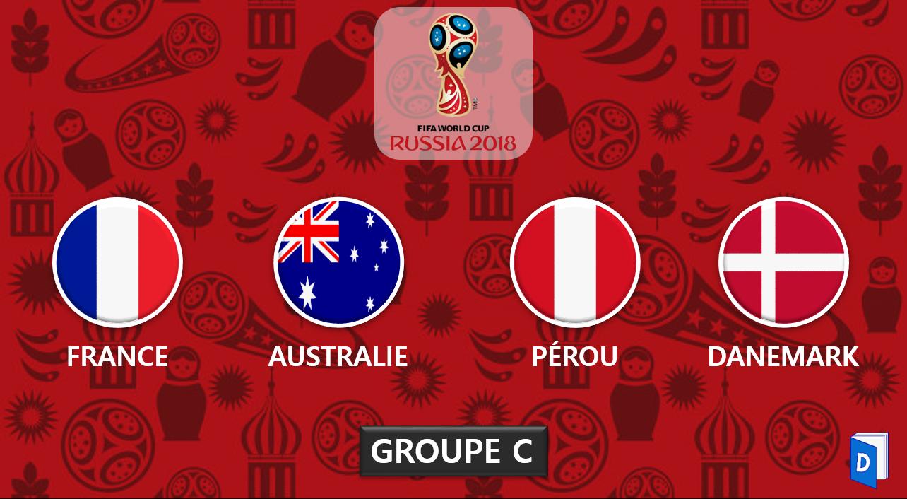 Coupe du monde 2018 - Presentation Groupe C
