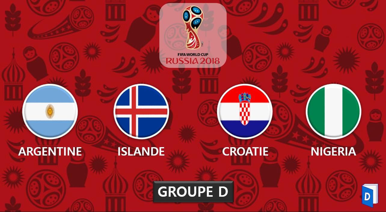 Coupe du monde 2018 - Presentation Groupe D