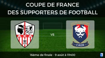 16ème de finale Coupe de France des supporters de football – AC Ajaccio vs SM Caen