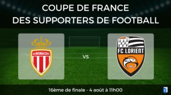 16ème de finale Coupe de France des supporters de football – AS Monaco vs FC Lorient