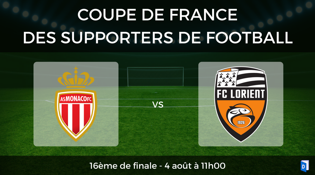 16ème de finale Coupe de France des supporters de football - AS Monaco vs FC Lorient