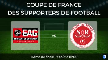 16ème de finale Coupe de France des supporters de football – EA Guingamp vs Stade de Reims
