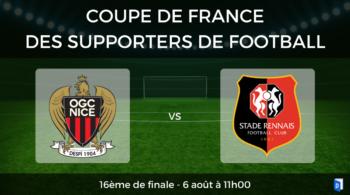 16ème de finale Coupe de France des supporters de football – OGC Nice vs Stade Rennais