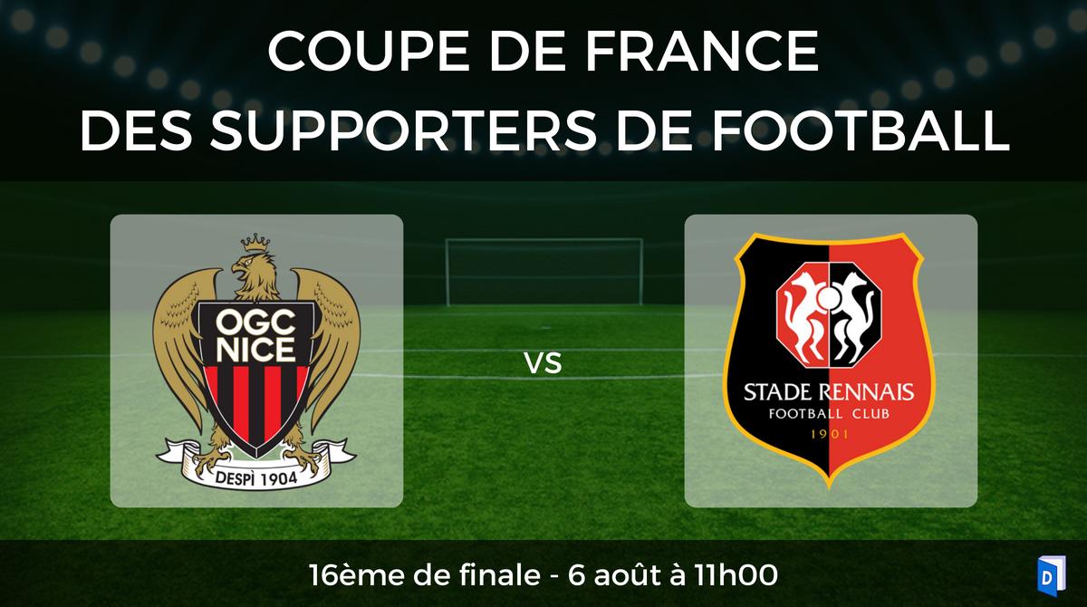 16ème de finale Coupe de France des supporters de football - OGC Nice vs Stade Rennais