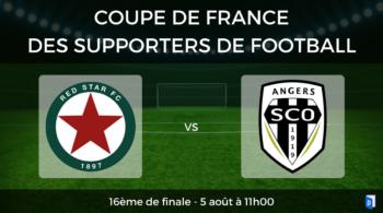 16ème de finale Coupe de France des supporters de football – Red Star vs SCO Angers