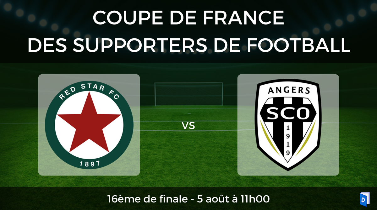 16ème de finale Coupe de France des supporters de football - Red Star vs SCO Angers