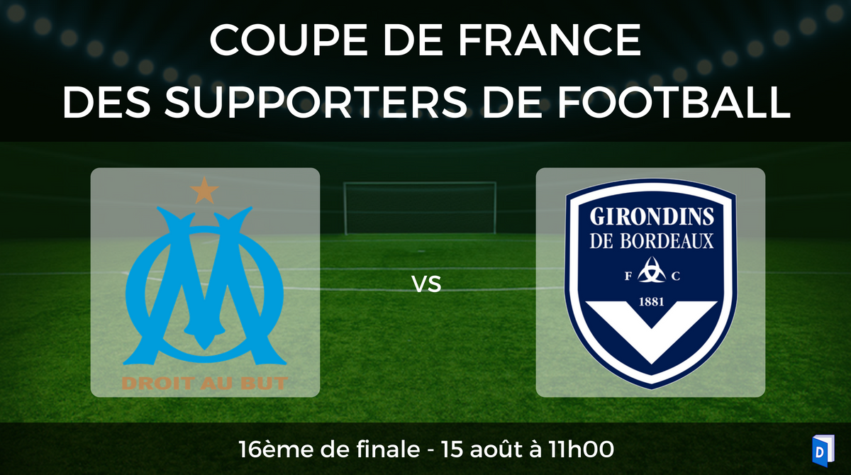 Coupe de France des supporters de football – 16ème de finale OM vs Bordeaux