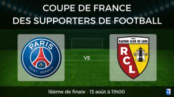 Coupe de France des supporters de football – 16ème de finale PSG vs RC Lens