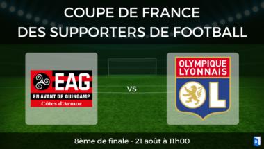 Coupe de France des supporters de football – 8ème de finale EA Guingamp vs Olympique Lyonnais
