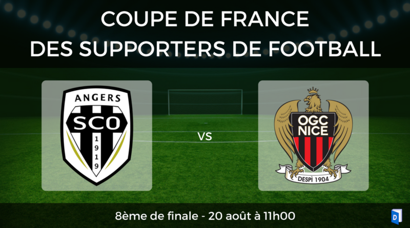 Coupe de France des supporters de football – 8ème de finale SCO Angers vs OGC Nice