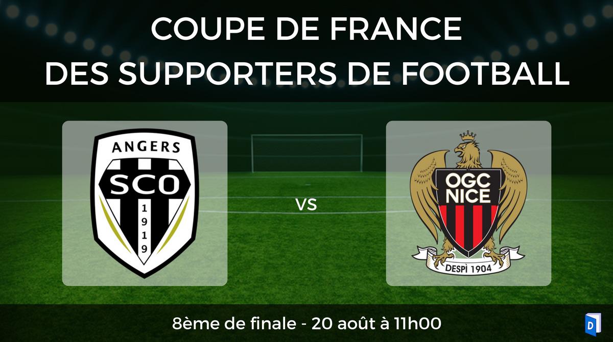 Coupe de France des supporters de football – 8ème de finale SCO Angers vs OGC Nice