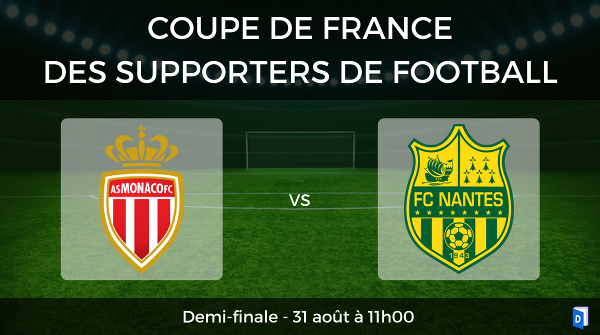 Coupe de France des supporters de football – Demi-finale AS Monaco vs FC Nantes