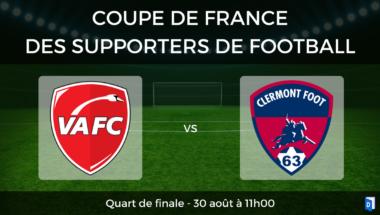 Coupe de France des supporters de football – Quart de Finale Valenciennes Clermont