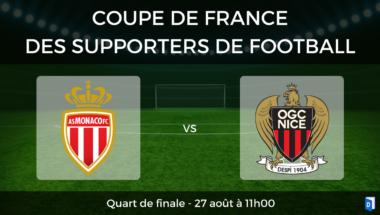 Coupe de France des supporters de football – Quart de finale AS Monaco vs OGC Nice