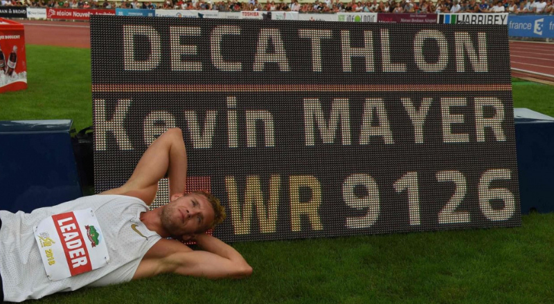 Kevin Mayer, recordman du monde du decathlon – AFP