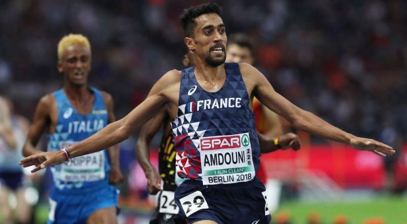 Morhad Amdouni, champion d'Europe du 10 000m en athlétisme – AFP
