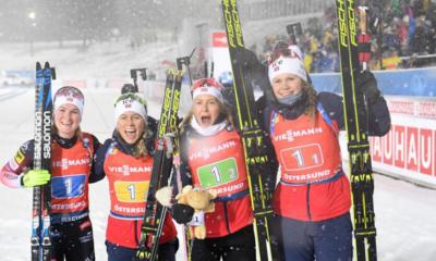 Biathlon - Ostersund - La Norvège impériale sur le relais dames, la France déçoit