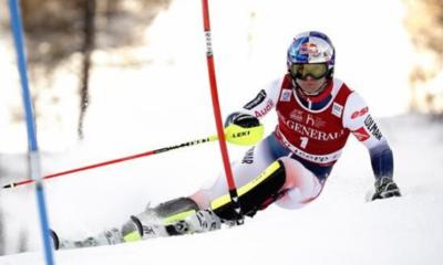 Ski alpin - Alexis Pinturault survole le slalom de Val d'Isère