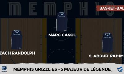 Votre 5 Majeur de légende des Memphis Grizzlies