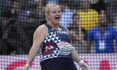 Alexandra Tavernier bat encore le record de France du lancer du marteau