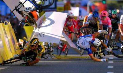 [Vidéo] Terrible chute lors du sprint de la 1ère étape du Tour de Pologne