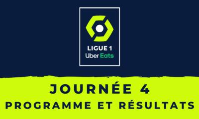 Calendrier Ligue 1 20202021 - 4ème journée Programme et résultats