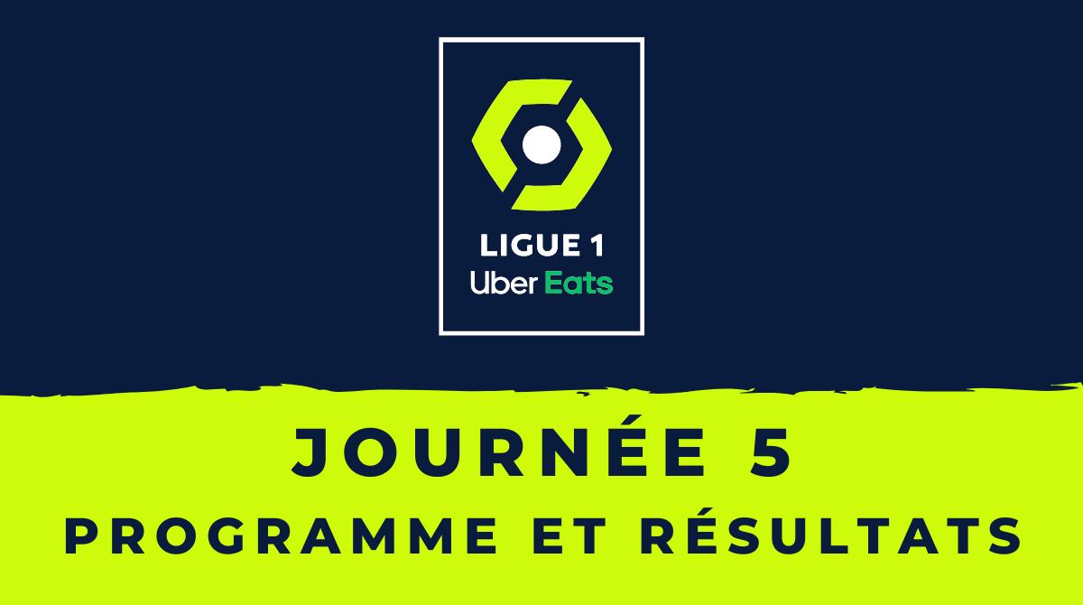 Calendrier Ligue 1 2020-2021 - 5ème journée Programme et résultats