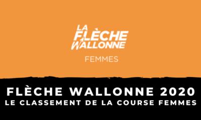 La Flèche Wallonne 2020 : le classement de la course femmes