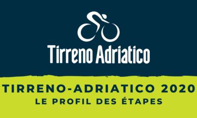 Tirreno-Adriatico 2020 - Le profil des étapes