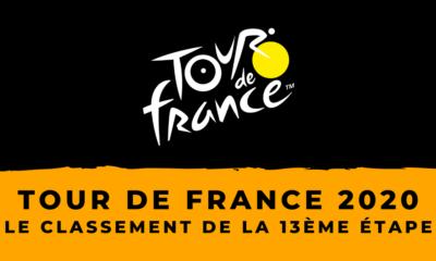 Tour de France 2020 - Le classement de la 13ème étape