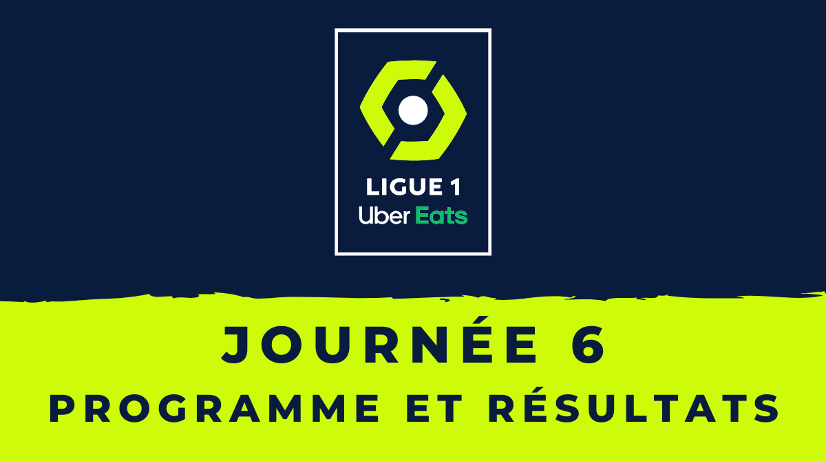 Calendrier Ligue 1 2020-2021 - 6ème journée - Programme et résultats