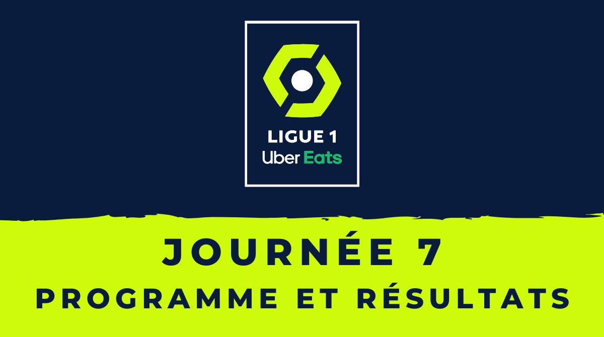 Calendrier Ligue 1 2020-2021 - 7ème journée - Programme et résultats