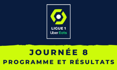 Calendrier Ligue 1 2020-2021 - 8ème journée -Programme et résultats