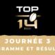 Calendrier Top 14 2020-2021 - 3ème journée - Programme et résultats