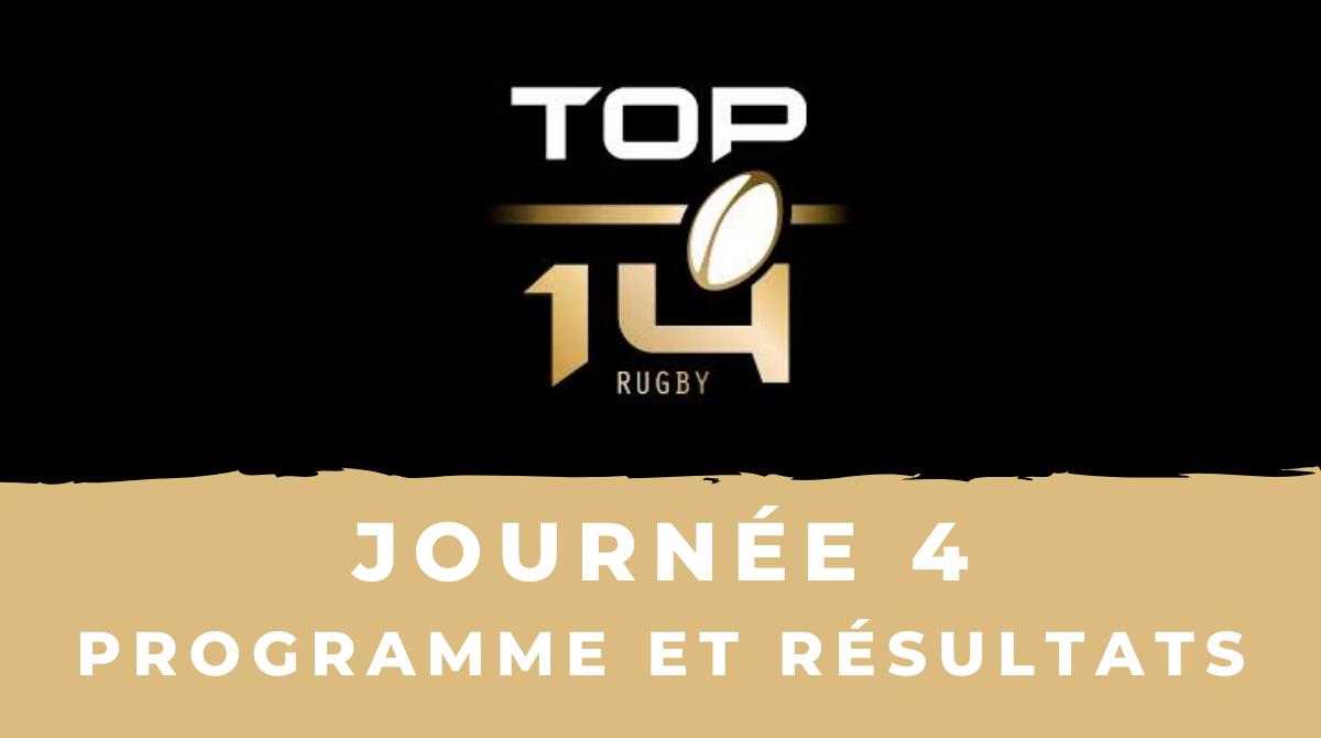 Rugby à XV   Calendrier Top 14 2020/2021   4ème journée