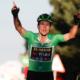 Cyclisme - Tour d'Espagne 2020 - Vainqueur de la 8ème étape, Primoz Roglic tape du poing sur la table