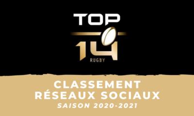 Top 14 - 2020-2021 - Le classement des clubs sur les réseaux sociaux