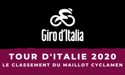 Tour d'Italie 2020 - Le classement par points - Maillot cyclamen