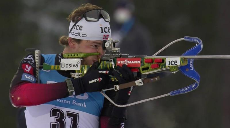 Kontiolahti : la surprise Laegreid remporte l'individuel devant Johannes Boe
