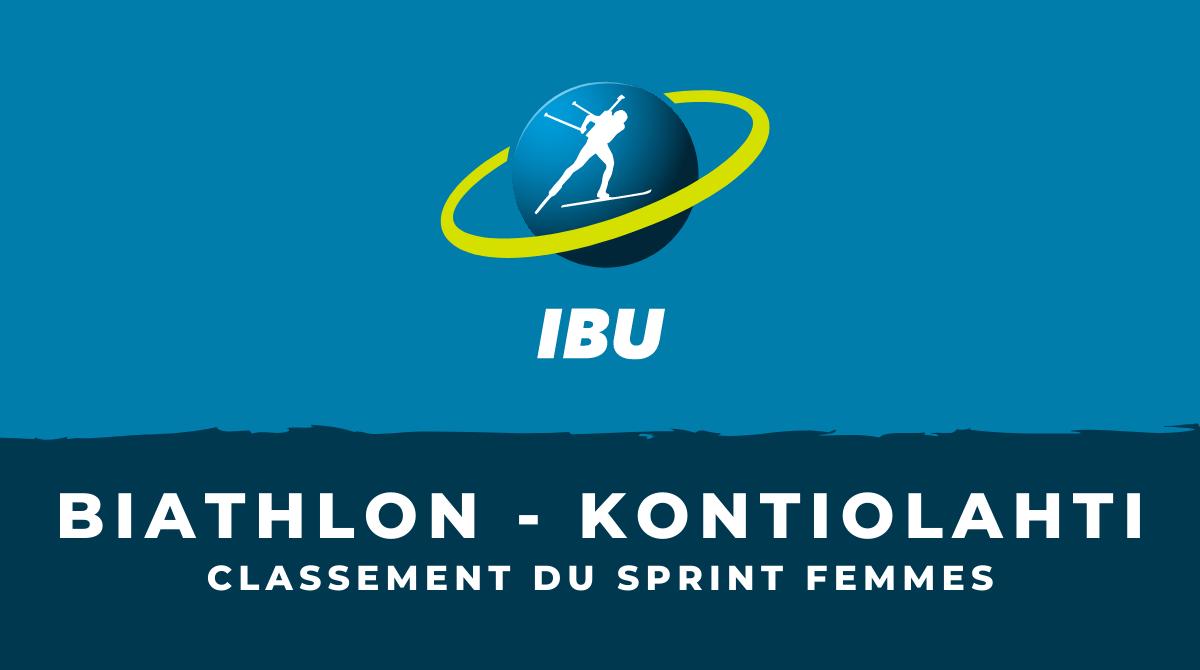 Biathlon - Kontiolahti le classement du sprint femmes