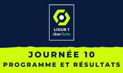 Calendrier Ligue 1 2020-2021 - 10ème journée - Programme et résultats