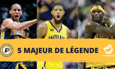 Composez votre 5 majeur de légende des Indiana Pacers