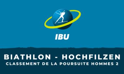 Biathlon - Hochfilzen - Le classement de la deuxième poursuite hommes